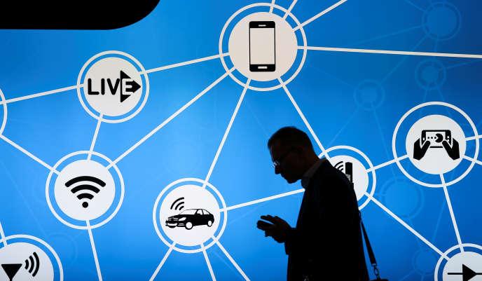 Au Congrès mondial du mobile, à Barcelone, le 28 février.