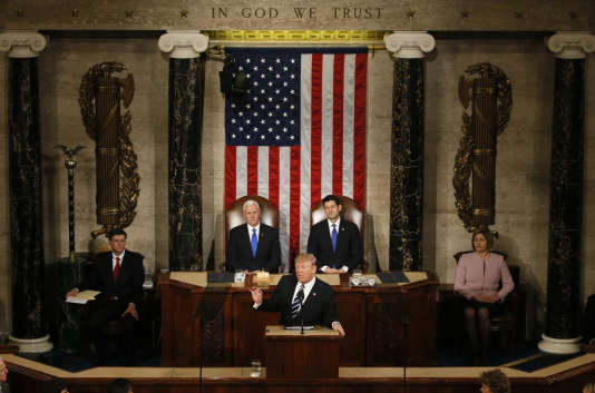 Donald Trump devant le congrès des Etats-Unis, le 28 mars 2017.