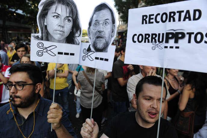 Manifestation contre la corruption à Madrid le 18 juillet 2013.