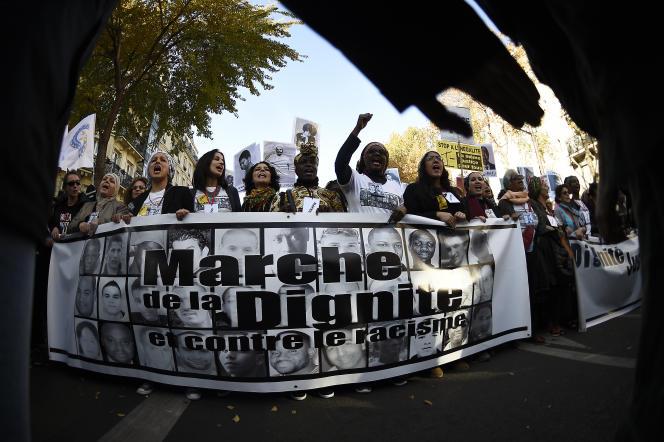 La première Marche de la dignité et contre le racisme, le 31 octobre 2015, à Paris.