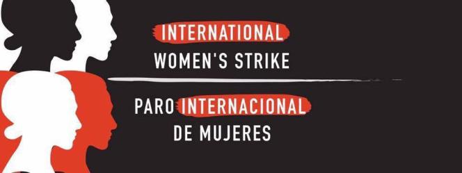Bannière de la Grève internationale des femmes pour le 8 mars 2017.