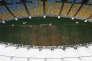 Vue aérienne du stade du Maracana utilisé lors des Jeux de Rio (photo prise le12 janvier 2017).