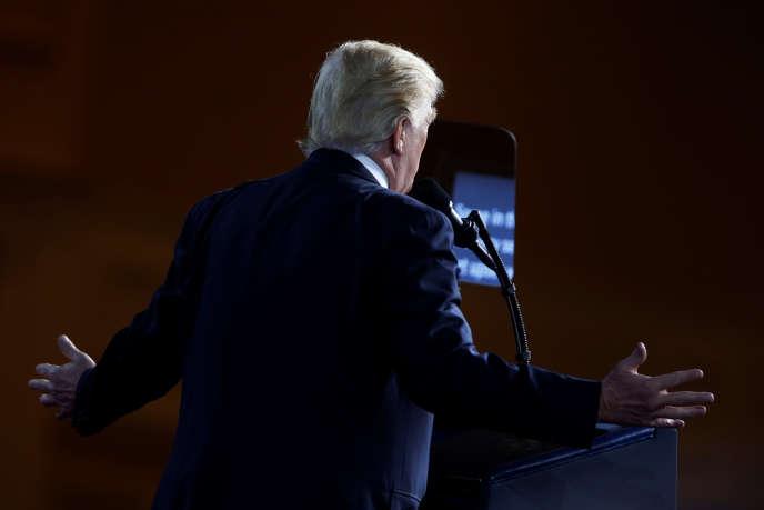 Le président américain, Donald Trump, à Oxon Hill (Maryland), le 24 février.