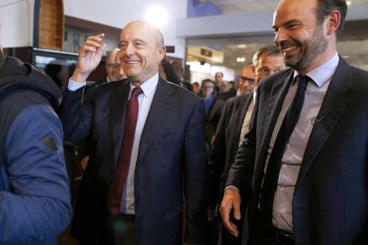 Alain Juppé et Edouard Philippe, maire du Havre, le 12 novembre 2016.
