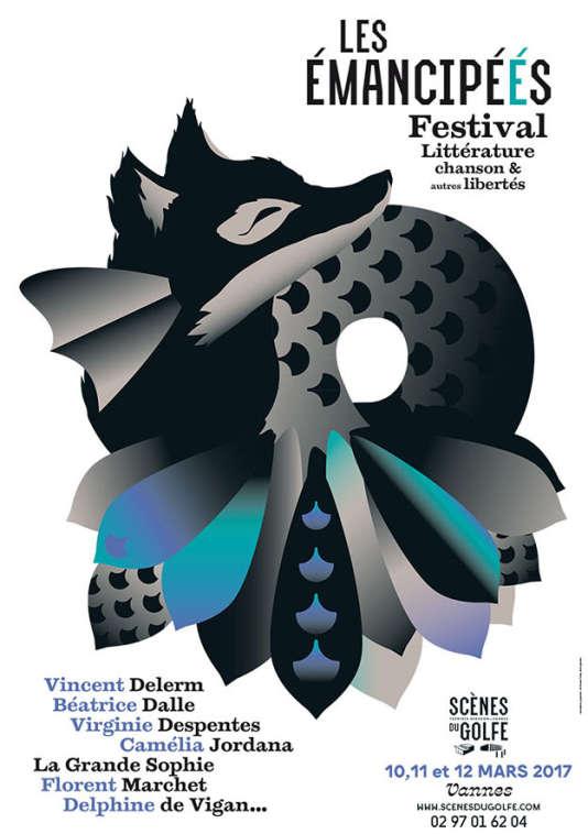 Affiche du festival Les Emancipéés à Vannes.