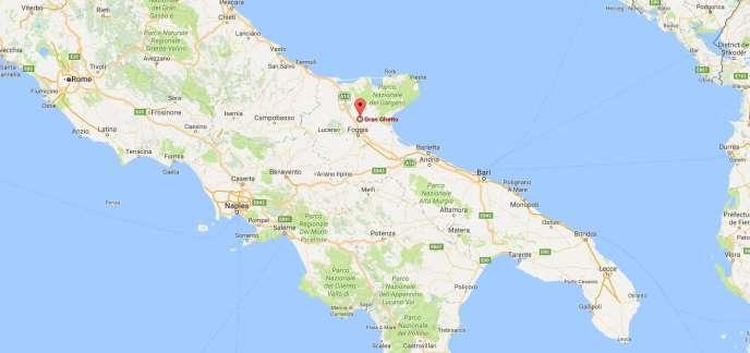 Le camp de«gran Ghetto» se trouve au nord de Foggia, dans le sud de l'Italie.