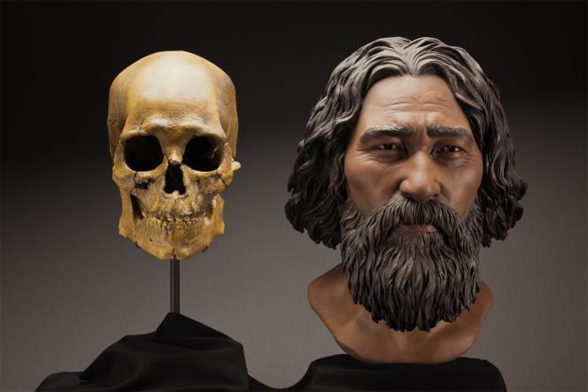 Cette reconstitution à partir du crâne de l'« Homme de Kennewick » suggérait une origine asiatique. Une hypothèse infirmée par la génétique.