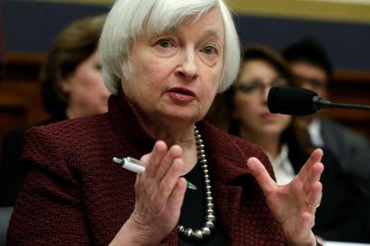 La présidente de la banque centrale américaine (Fed), Janet Yellen, auCongrès américain, àWashington, le 15 février 2017.