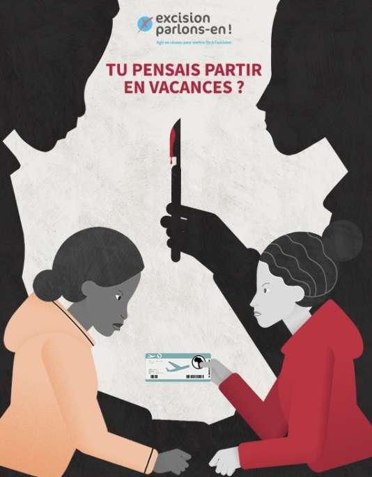 L'affiche de la campagne du réseauExcision, parlons-en.
