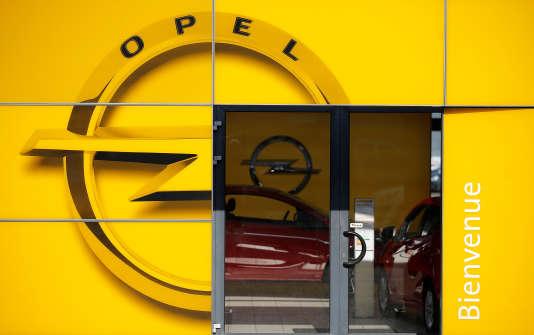 Une concession Opel à Strasbourg, en février.