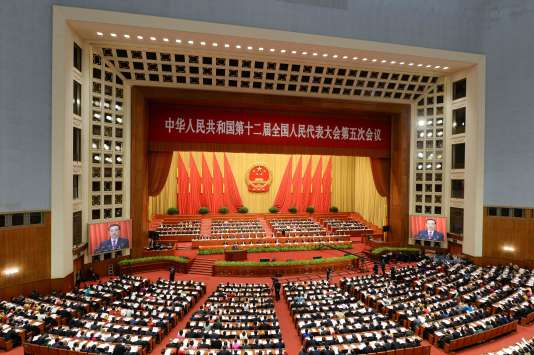 Le 5 mars à Pékin.