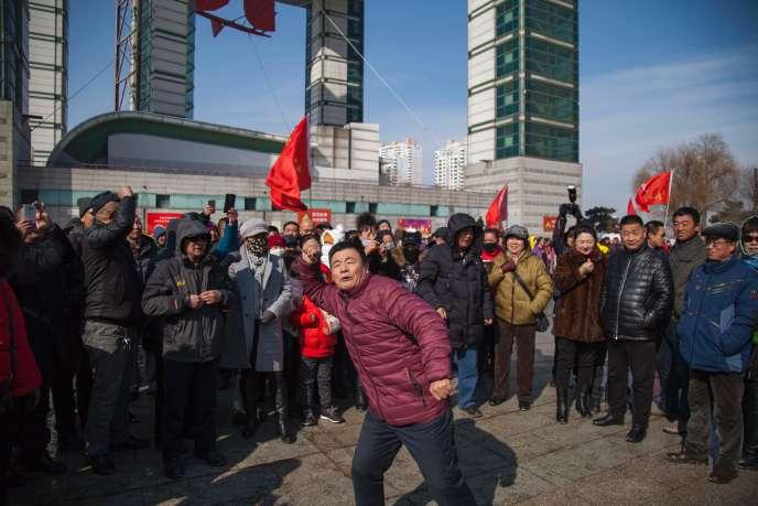 Des Chinois manifestent en faveur du boycott des produits sud-coréens, à Jilin (nord-est), le 5 mars 2017.