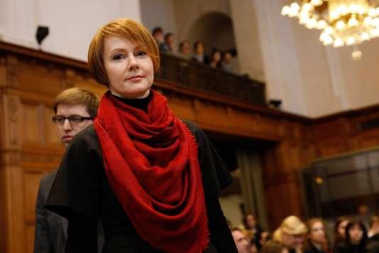Olena Zerkal, vice-ministre des affaires étrangères de l'Ukraine, le 6 mars à La Haye.
