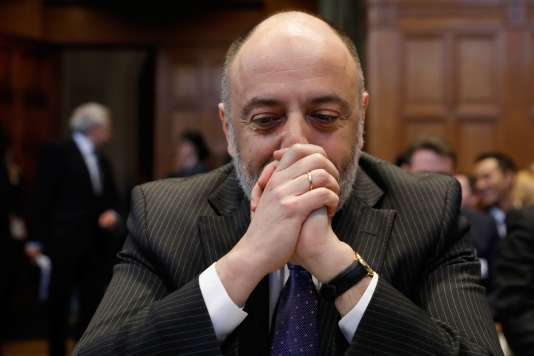 Roman Kolodkine, directeur juridique du ministère russe des affaires étrangères, le 6 mars à La Haye.