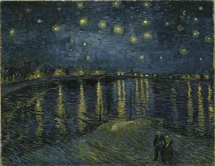 Enseptembre 1888, l'artiste écrira à sa sœur : « Souvent, il me semble que la nuit est encore plus richement colorée que le jour ».