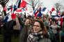 Des sympathisants de François Fillon sur la place du Trocadéro à Paris le 5 mars.