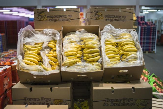 Bananes de Guadeloupe à Rungis.