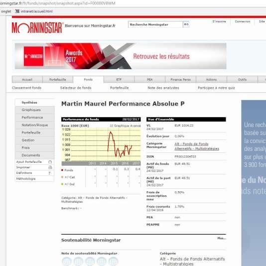Le site Morningstar.fr fournit moult informations sur les produits de gestion collective.