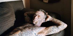 Larry, artiste tatoueur, Texas, Etats-Unis, 2015.