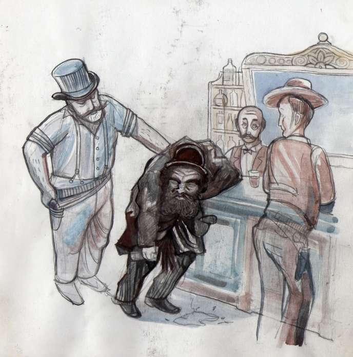 Croquis d'illustration du spectacle «Dead Town».