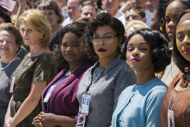 Taraji P. Henson, Janelle Monae et Octavia Spencer dans les rôles deKatherine Johnson,Mary Jackson etDorothy Vaughan .