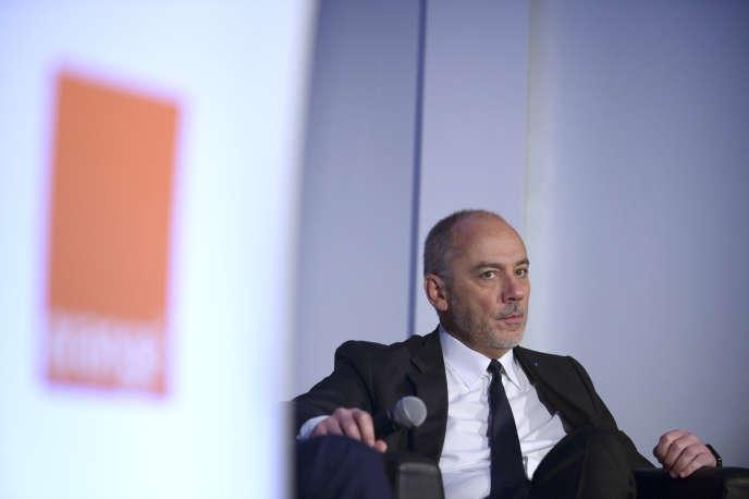 Stéphane Richard, le patron d'Orange, en février 2016.