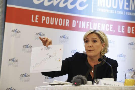 Marine Le Pen, à Paris, le 7 mars.