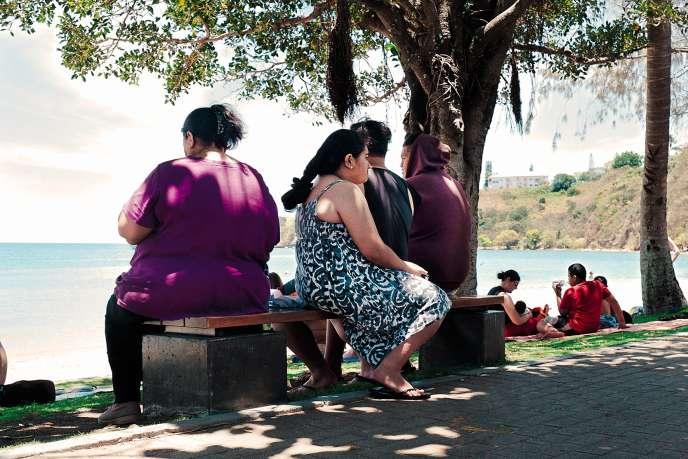 Selon l'OMS, lesîles du Pacifique sont en tête des pays avec la plus importante proportion d'obèses. Ici, à Nouméa, en 2014.