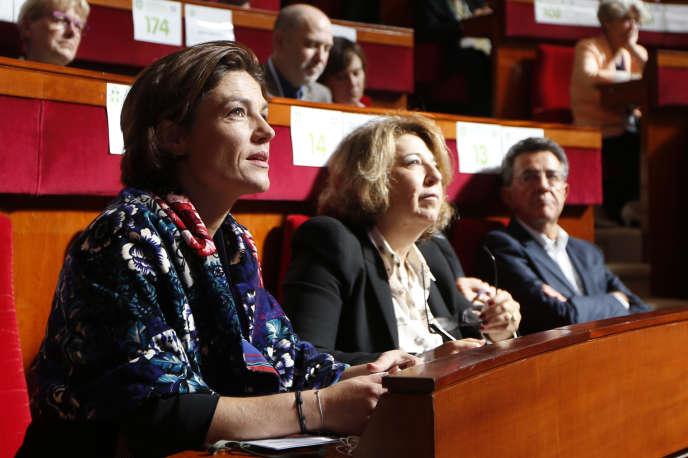 La sénatrice Chantal Jouanno (à gauche) à la seconde conférence environnementale annuel à Paris, le 20 septembre 2013.