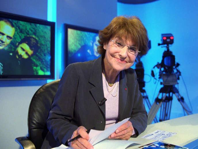 Eliane Victor, le 31 octobre 2000, sur un plateau de La Chaîne parlementaire.