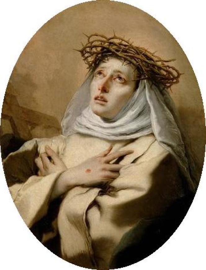 Catherine de Sienne (1746), par Tiepolo.