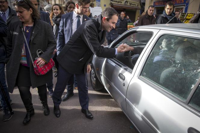 Benoît Hamon, à Marseille, le 7 mars.