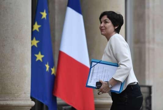 Annick Girardin, ministre de la fonction publique, à l'Elysée, le 8 mars.