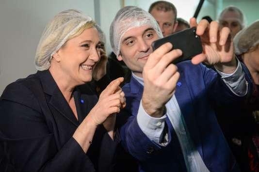 Florian Philippot et Marine Le Pen le 8 mars.
