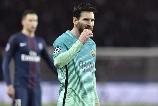 Lionel Messi lors du match aller face au PSG.