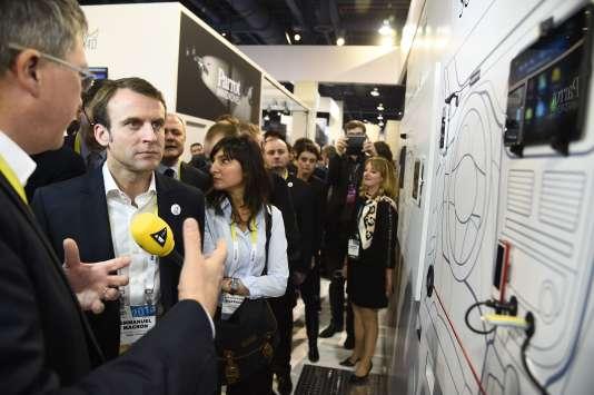 Emmanuel Macronau salon CES (Consumer Electronics Show) à Las Vegas, le 6 janvier.
