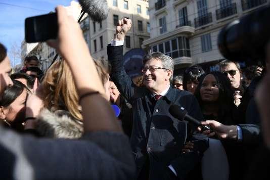 Jean-Luc Mélenchon, le 8 mars, à Marseille.