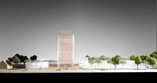 Vue de la façade principale du futur Centre culturel des métiers d'art