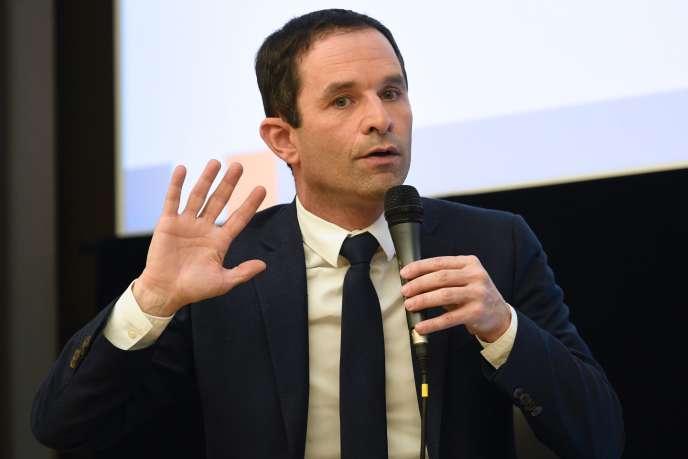 Le candidat socialiste à la présidentielle, Benoît Hamon, le 8 mars.