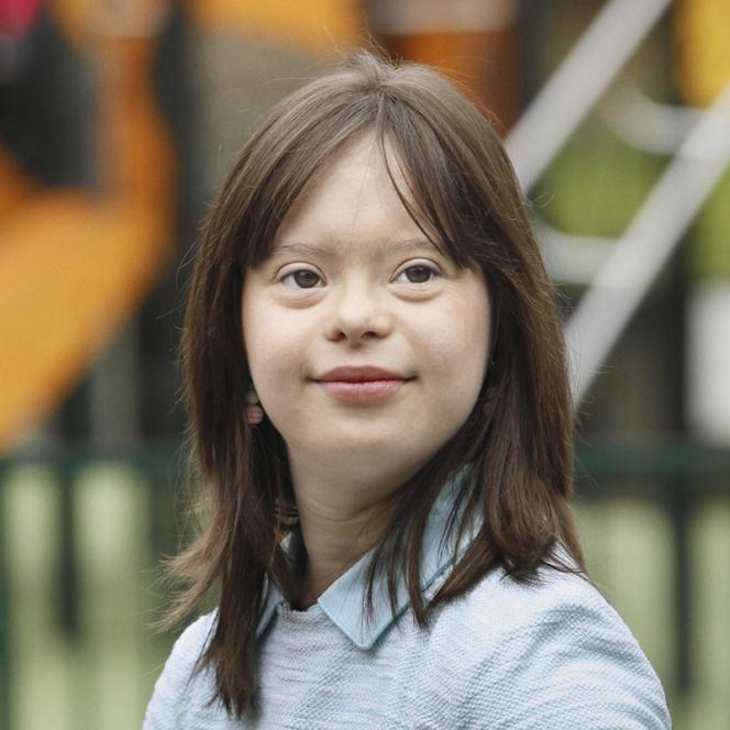 A l'approche de la journée mondiale de la trisomie 21, le 21 mars, l'Unapei a choisi cette jeune femme pour porter « un message».