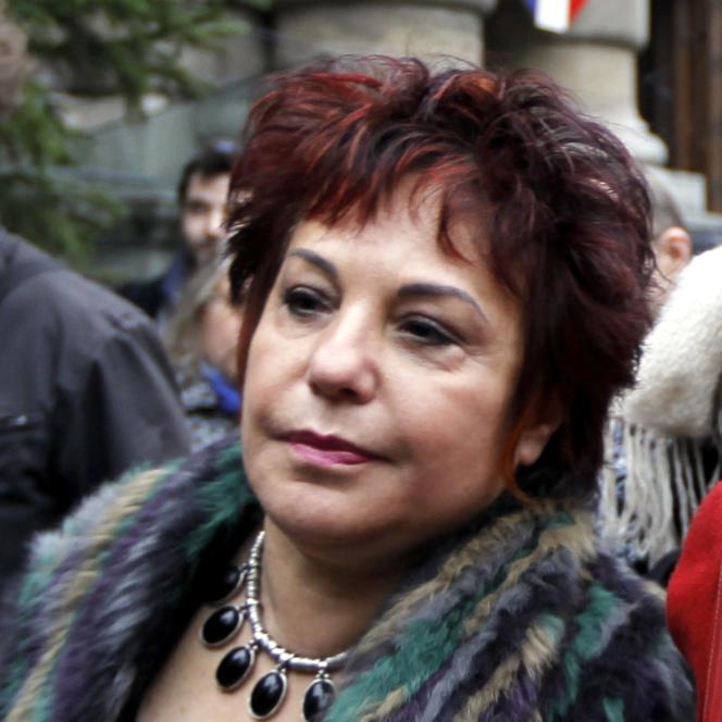 Esther Benbassa, en décembre 2011 devant le Sénat à Paris lors d'une manfifestation pour le vote des étrangers aux élections locales.