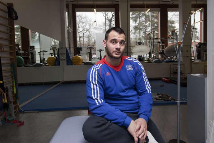 Lundi 6 mars, Samir Aït Said, blessé aux JO de Rio en 2016, continuait sa rééducation à l'Insep à Vincennes.