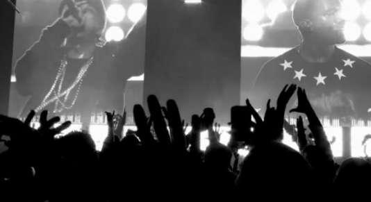 Image extraite du clip deJay-Z & Kanye West, «Niggas In Paris ».