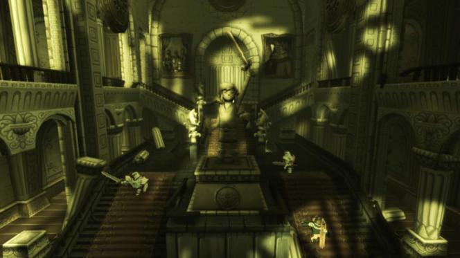 L'ancien château d'Hyrule dans «Wind Waker».