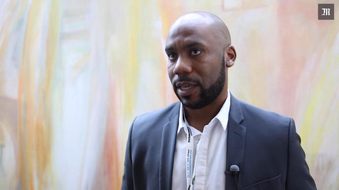 Christian Dzella, à l'origine de NoFi, le média numérique de la fierté noire, le 2 mars 2017 à Paris.