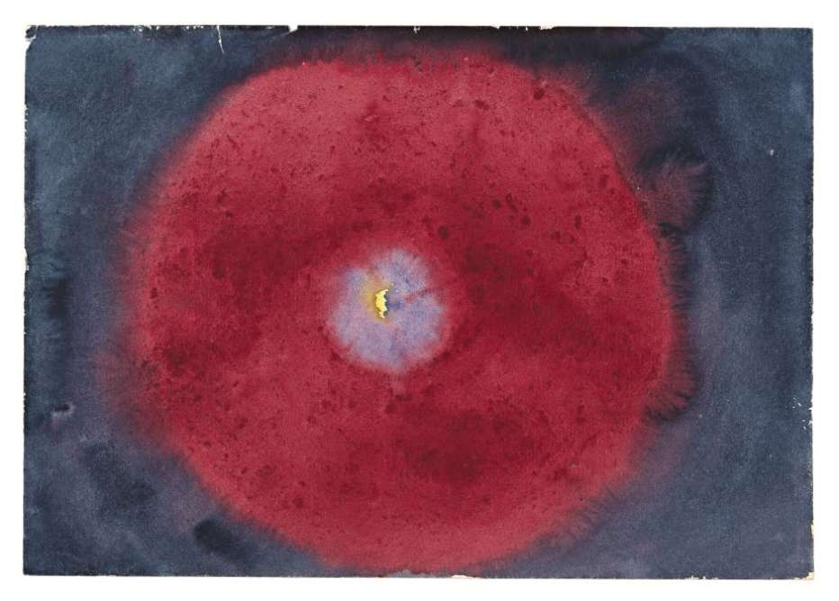 «Cette œuvre précurseur de l'abstraction géométrique a longtemps été tenue secrète par l'artiste. Spirite et investie de la mission de peindre les aspects immortels de l'Homme par l'esprit Amaliel, Hilma af Klint s'attache à retranscrire les formes immuables des cycles de la vie. La spirale, symbole de croissance et d'évolution, devient un motif récurrent au même titre que les enroulements de végétaux ou les coquilles d'escargots. »