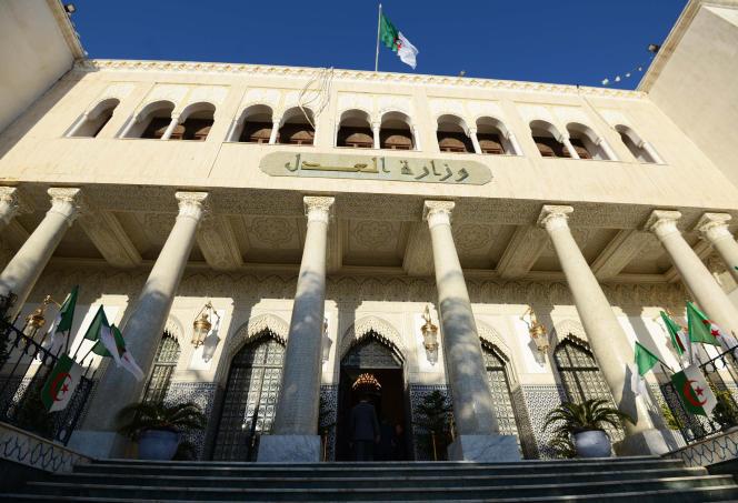 Le ministère de la justice, à Alger, en décembre 2015.