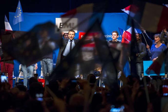 Emmanuel Macron à Talence près de Bordeaux le 9 mars.