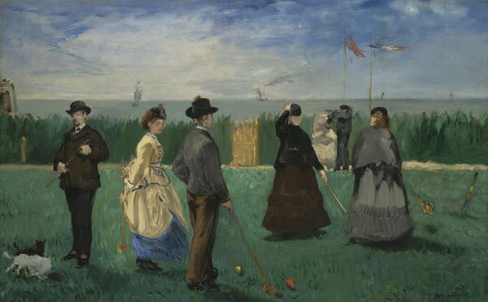 Édouard Manet : La partie de croquet ( 1871).