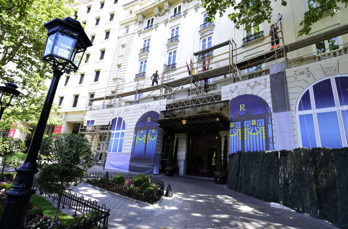 L'Hôtel Ritz à Madrid.